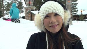 Kiinalainen turisti Napapiirillä