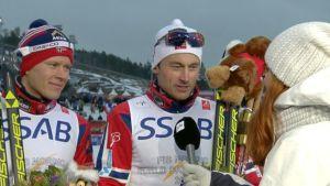 Petter Northug Yle Urheilun haastattelussa.