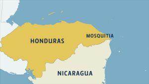 Löydetty kaupunki sijaitsee Mosquitian rannikon sademetsissä, Hondurasin itäosissa.