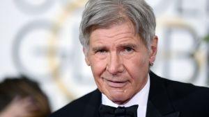 Näyttelijä Harrison Ford kuvattuna Golden Globe -gaalassa tammikuussa 2015.