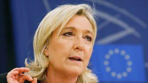 Kansallinen rintama -puolueen puheenjohtaja Marine Le Pen 22. tammikuuta 2015 Brysselissä.