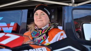 Linn Sjöberg on Suomen paras naismoottorikelkkailija.