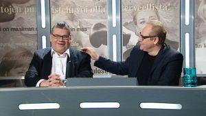 Timo Soini Uutisvuodon vieraana.