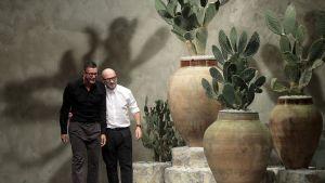 Domenico Dolce ja Stefano Gabbana Milanon muotiviikoilla vuonna 2012.