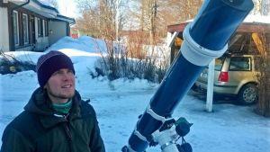 Tähtitieteen harrastaja Juha Ojanperä, Kuusamo