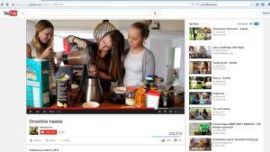 Siruaurooran smoothie haasteet ovat katsottuja YouTubessa.