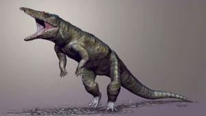 Piirroskuva Carnufex carolinensis -krokotiilieläimestä