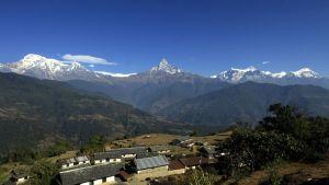 Annapurnan vuoristo kuvattuna joulukuussa 2011.
