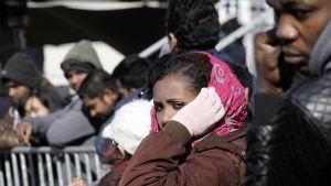 Syyrialaisia turvapaikanhakijoita.
