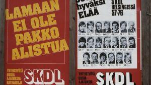 SKDL:n vaalijuliste eduskuntavaaleissa 1979.