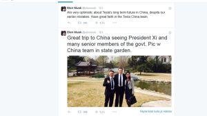 Teslan toimitusjohtaja Elon Musk vakuutteli maanantaina Twitterissä, että sähköautovalmistajalla on valoisa tulevaisuus Kiinassa.