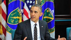 Yhdysvaltain presidentti Barack Obama puhui maan energia- ja ilmastopolitiikasta Washingtonissa 19. maaliskuuta.