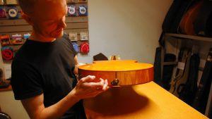 Soitinrakentaja Juha Lottonen käyttää akustisissa kitaroissaan vanhaa Kaivopuistosta kaadettua jalavaa. Kitaran runkoa molemmin puolin kiertävät listat on tehty jalavasta.