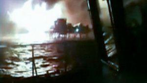 Öljynporauslautan tulipalo, Meksikonlahti.