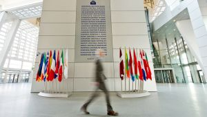 Euroopan keskuspankin pääkonttori Frankfurtissa.