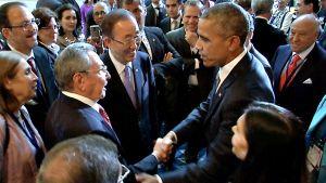 Raul Castro ja Barack Obama.