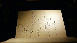 Alan Turingin muistikirja.