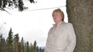 Merja Syrjänen Kuopiossa Puijon maastossa