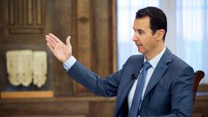Bashar al-Assad antamassa haastattelua.