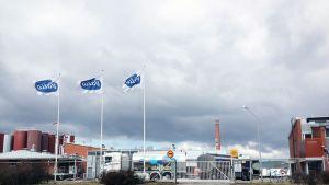 Valion Tampereen tehdas ulkoa päin kuvattuna