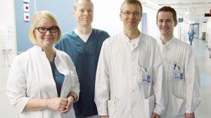 Raili Suojaranta-Ylinen, Seppo Hiippala,  Karl Lemström ja Jan Kiss.