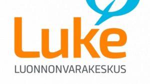 Luonnonvarakeskuksen logo.