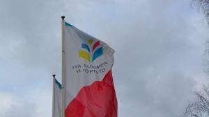 Itä-Suomen yliopiston lippuja.