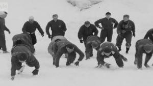 HIFK:n harjoittelua talvella 1962
