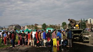 Nepal maanjäristys Kathmandu.