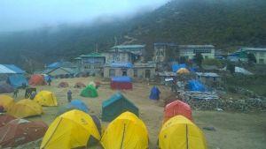 Telttoja Pangbochessa, Nepalissa