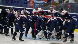 Slovakian joukkue jääkiekon MM-kisoissa 2015.