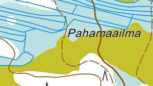 Pahamaailma niminen paikka kartalla
