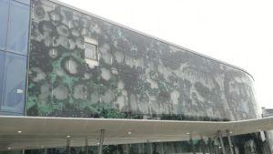 Lasinen seinä josta puuttuu yksi elementti