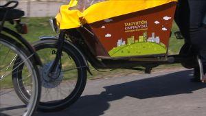 Kalliin sähköavusteisen lastipyörän voi hankkia kimpassa vaikka taloyhtiölle.