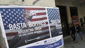 Korppikotkasta on tullut Argentiinassa riskirahastojen ahneuden symboli.