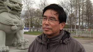 Kouvolan China Centerin omistaja Jiazhu Wang vieraili liikekiinteistössä ensimmäistä kertaa vuosiin