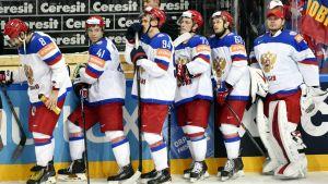 Venäjän joukkue jääkiekon MM-finaalissa 2015.