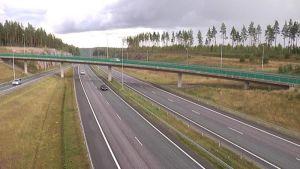 Turun moottoritien Lohjan Muijalan liittymä.