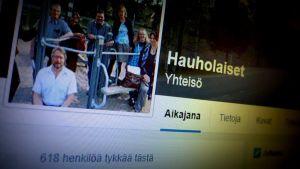 Kuvakaappaus Facebook-sivusta