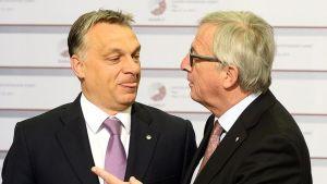 iktor Orban ja Jean-Claude Juncker.