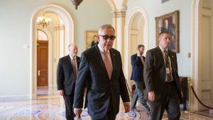 Yhdysvaltain senaatti kokoontui 22. toukokuuta äänestääkseen Patriot Act -lain mahdollisesta korvaamisesta. Kuvassa keskellä on demokraattisen puolueen Harry Reíd.