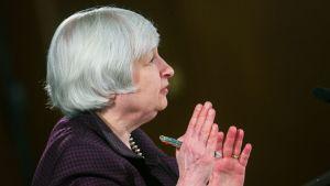 Yhdysvaltain keskuspankin pääjohtaja Janet Yellen.