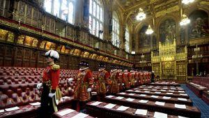 Britannian parlamentin ylähuone.