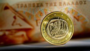 Kreikkalainen euron kolikko.
