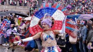 sambakarnevaali Helsingissä.
