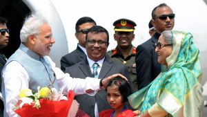Narendra Modia ja Sheik Hasina.
