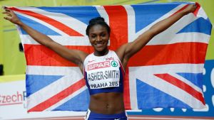 Iso-Britannian Dina Asher-Smith 2015.