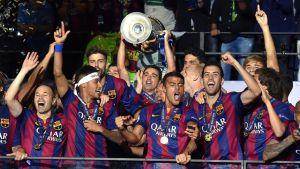 FC Barcelona juhli Berliinissä Mestarien liigan voittoa.