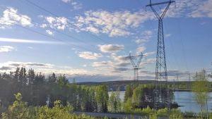 Suurjännitelinja suurjännite voimalinja Valajaskoski sähkö Rovaniemi 08062015