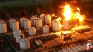 Ukraina polttoainevarastopalo.